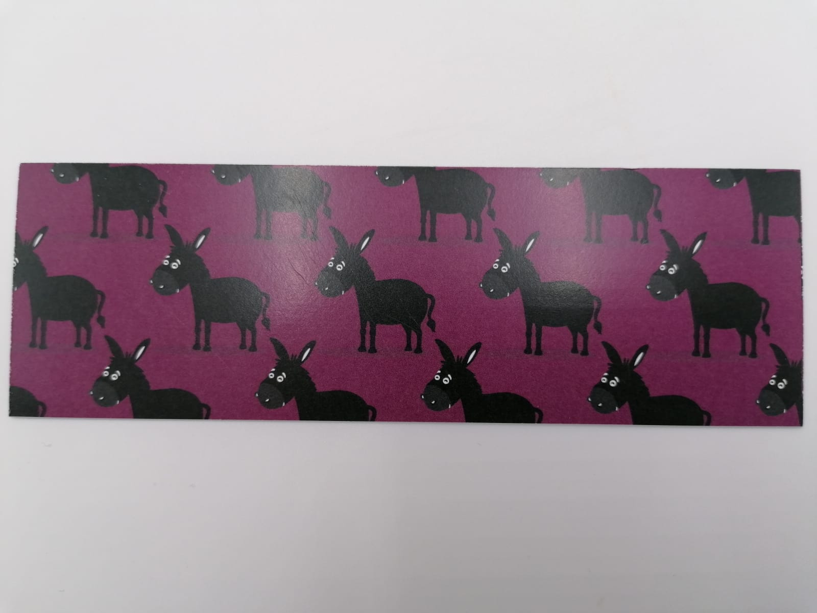 Bookmark with donkey drawing