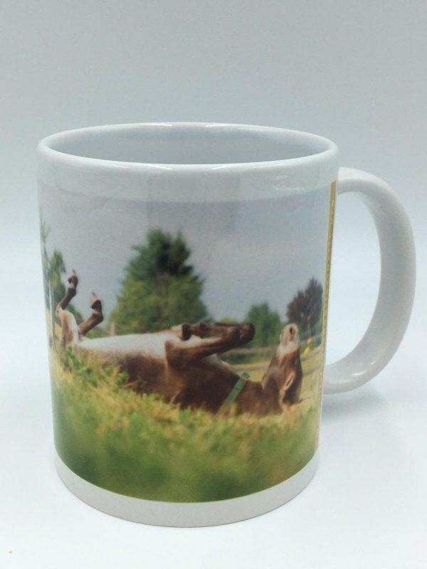 Tazza in ceramica con immagine asinella Clementina de Il Rifugio degli Asinelli