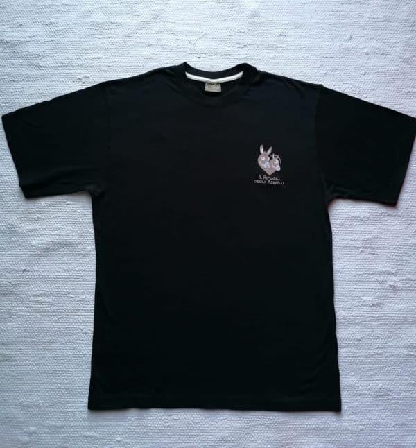 T-shirt uomo equo solidale 100% cotone con logo ricamato de Il Rifugio degli Asinelli