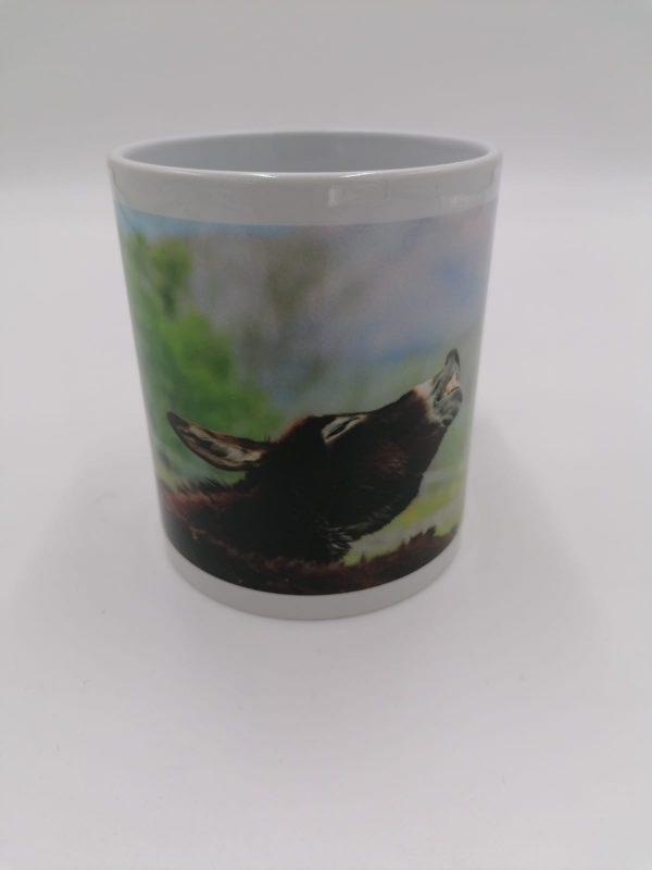 Tazza in ceramica con manico e immagine asinello Galileo, ospite de Il Rifugio degli Asinelli ONLUS